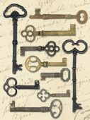 K&Company - Lifes Journey Collection – Metal Art Keys - 565227
